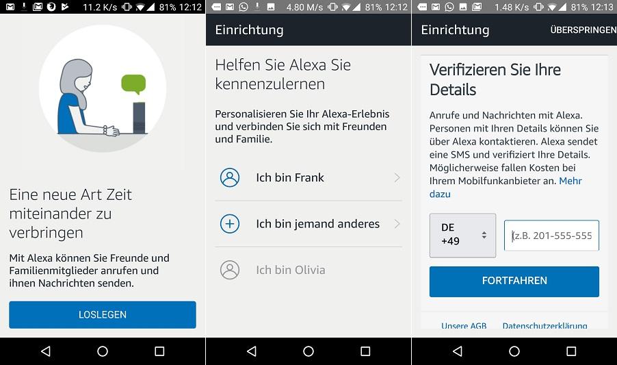 Mit Alexa Kostenlos Telefonieren Echo Android Ios So Gehts Giga