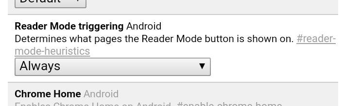 Chrome Reader-Mode triggering