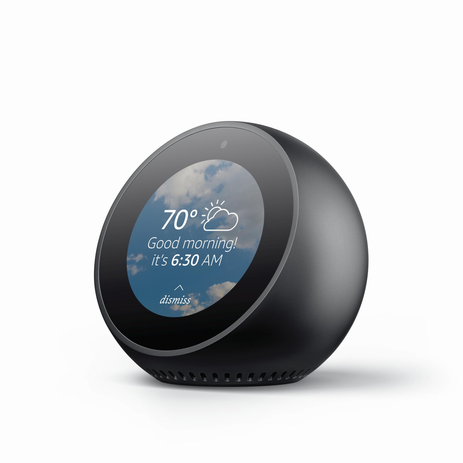 amazon echo spot preis release technische daten bilder. Black Bedroom Furniture Sets. Home Design Ideas
