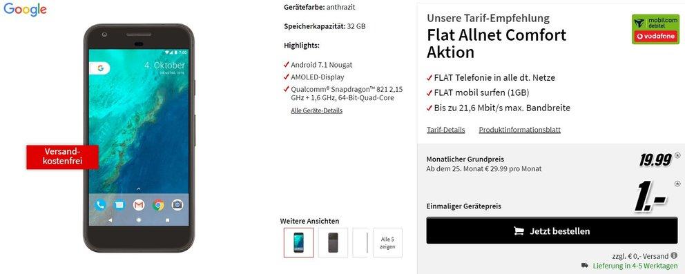 GOOGLE-Pixel-mit-Vodafone-Vertrag