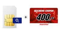 Krasses o2-Angebot bei MediaMarkt: 20 GB LTE plus 400-Euro-Gutschein