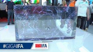 Futuristischer Panasonic OLED-TV Prototyp: Die IFA 2070 lässt grüßen