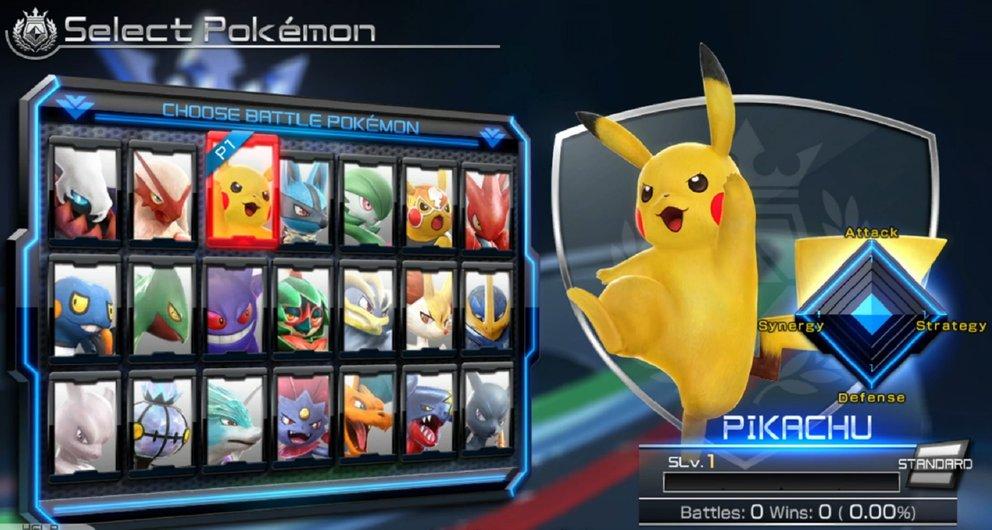Du wählst nicht nur dein Pokémon aus, sondern passend dazu auch zwei Helfer-Pokémon und Buffs von Mentorin Nia.