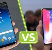 iPhone X vs. Galaxy Note 8: Vergleich der Smartphone-Giganten
