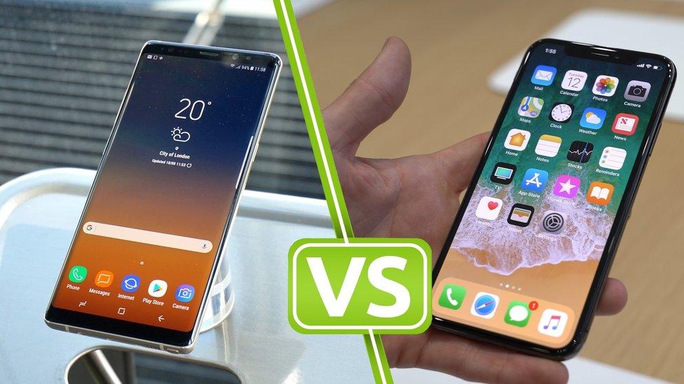 Einbrennen bei OLED-Displays: iPhone X Top, Galaxy Note 8 Flop
