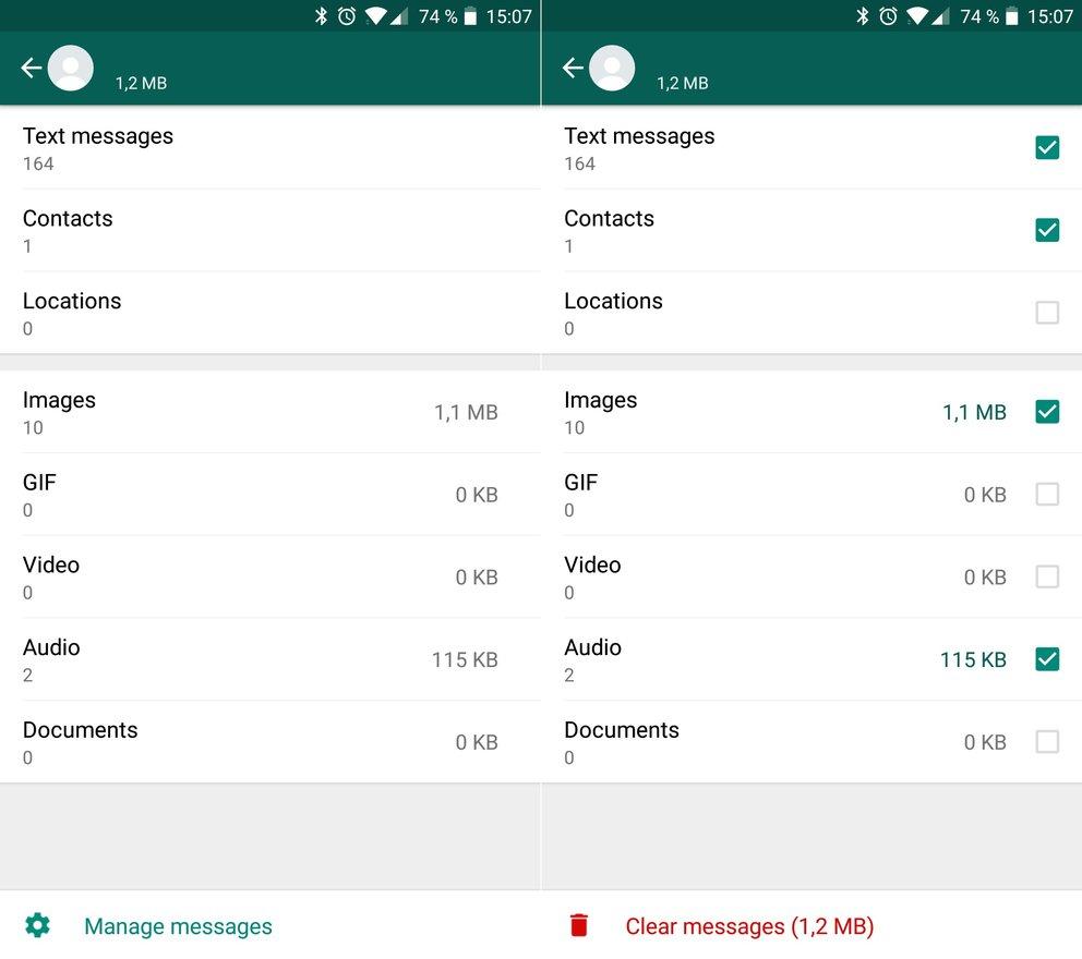WhatsApp-Speicherplatz-freiräumen