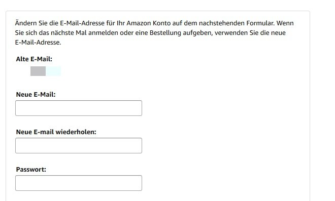 amazon-mail-aendern