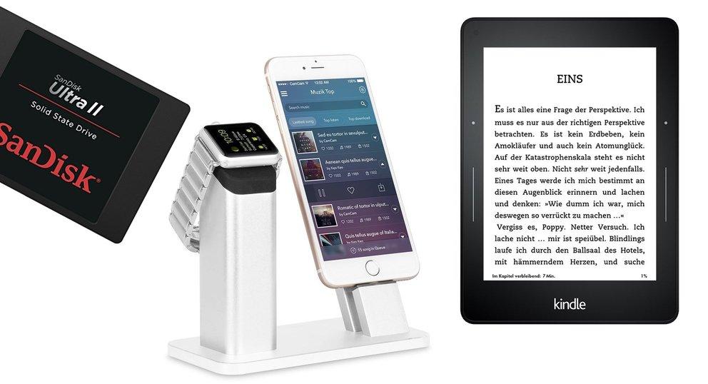 Blitzangebote: Kindle Voyage, SanDisk-SSD, Apple-Watch-Dock günstiger