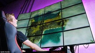 Krasses Experiment: YouTuber zockt auf Riesen-Monitor in 16K