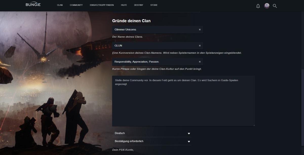 Destiny 2 Clan Erstellen Suchen Oder Beitreten Faq Und Infos