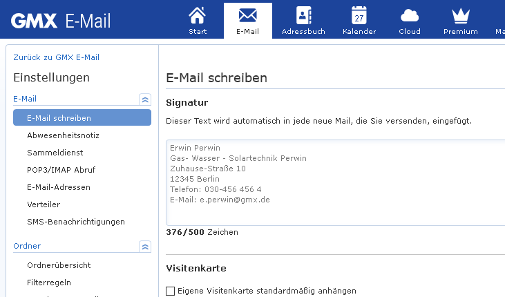 Gmx email login mobil