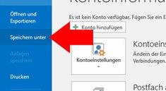 Outlook: E-Mail speichern – so geht's