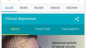 Bin ich depressiv? Google und Apps bieten Antworten