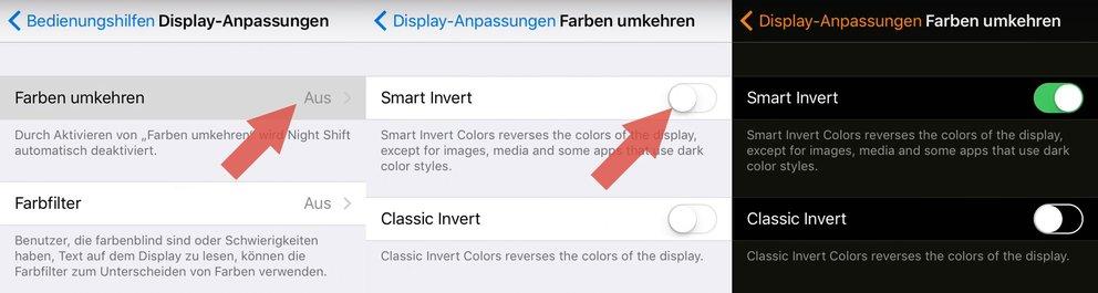 iOS 11 Dark-Mode Smart-Invert aktivieren 02