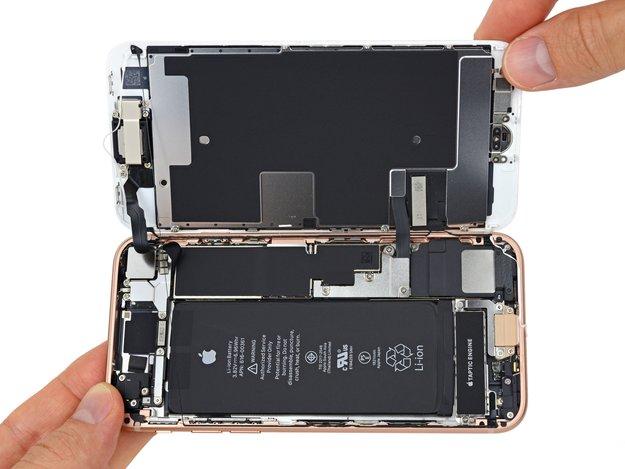 iPhone 8 zerlegt: Überraschungen im Innenleben