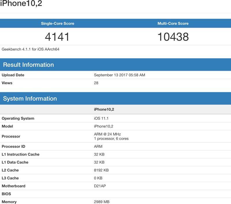 IPhone X: A11 Bionic Chip mit mehr Leistung als iPad Pro