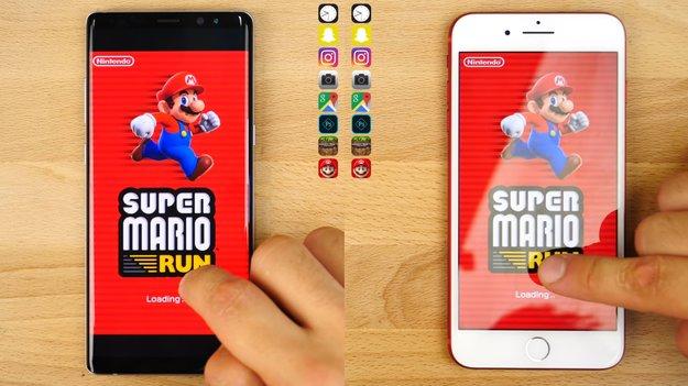 Galaxy Note 8 und iPhone 7 Plus im Vergleich: Wer ist schneller im Alltag?