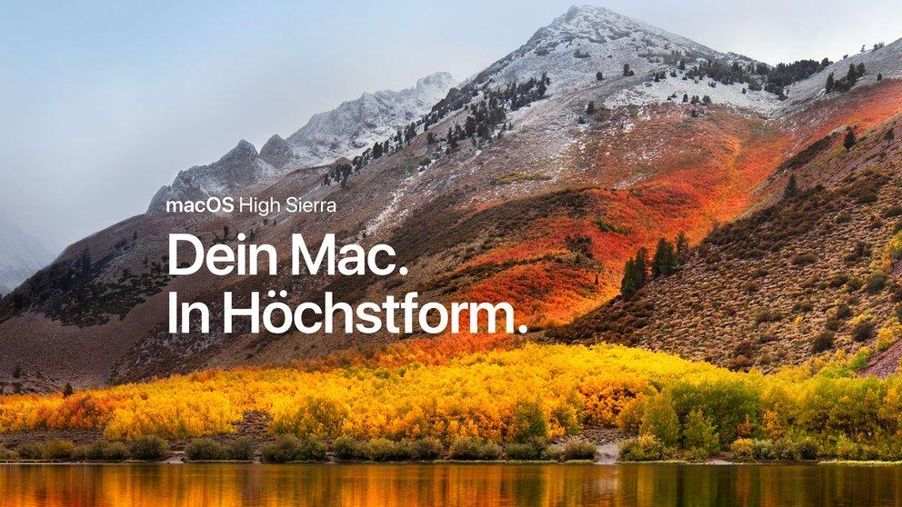 macOS High Sierra 10.13: Gold Master steht zum Download bereit