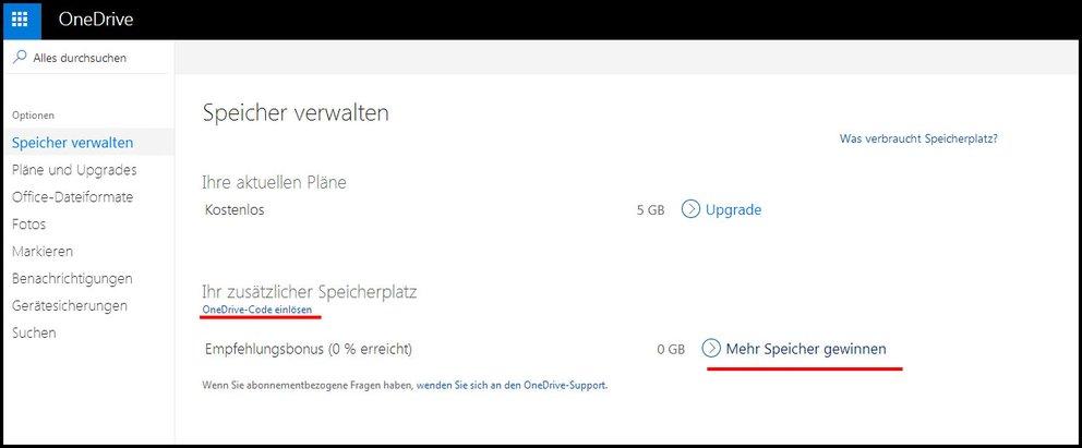 Hier erweitert ihr euren OneDrive-Speicher kostenlos