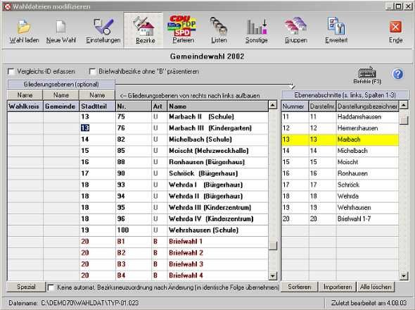 "Screenshot der Software ""PC-Wahl"" von Vote-IT (Quelle: Hersteller)"