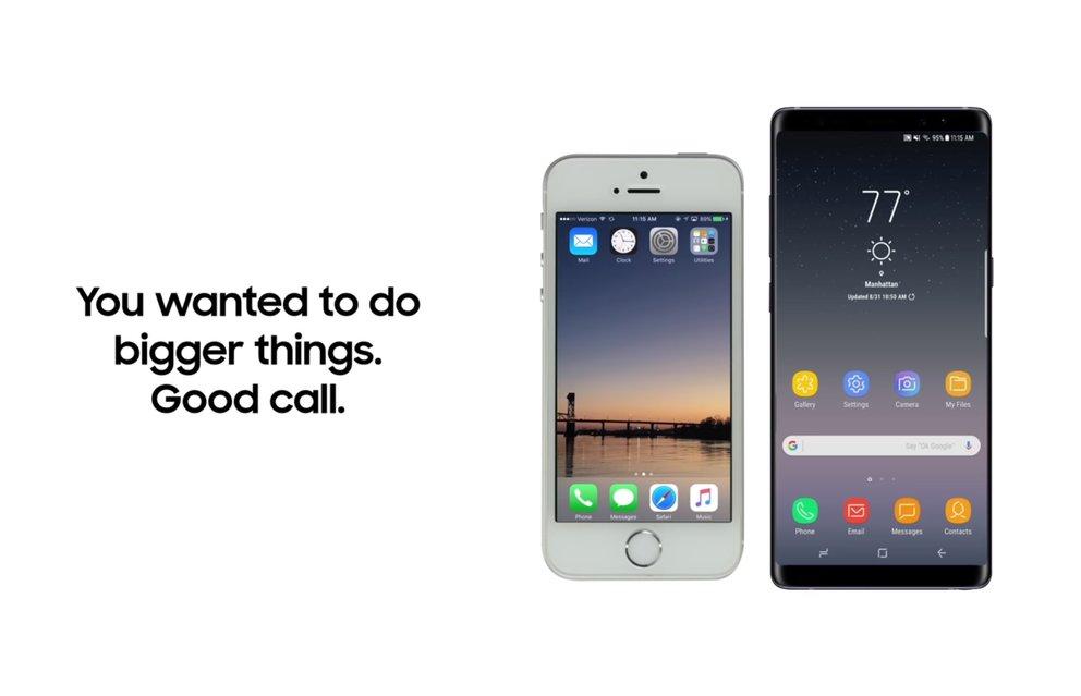 Vom iPhone zum Galaxy Note 8 wechseln: Samsung zeigt wie es geht