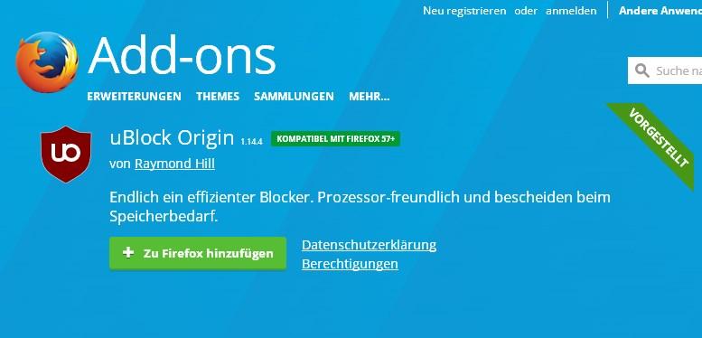 ublock origin herunterladen