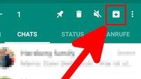 WhatsApp: Chats archivieren, verstecken & wiederherstellen – so geht's
