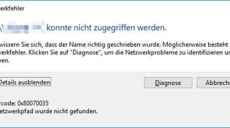 Lösung: 0x80070035-Netzwerkfehler bei Zugriff auf PC