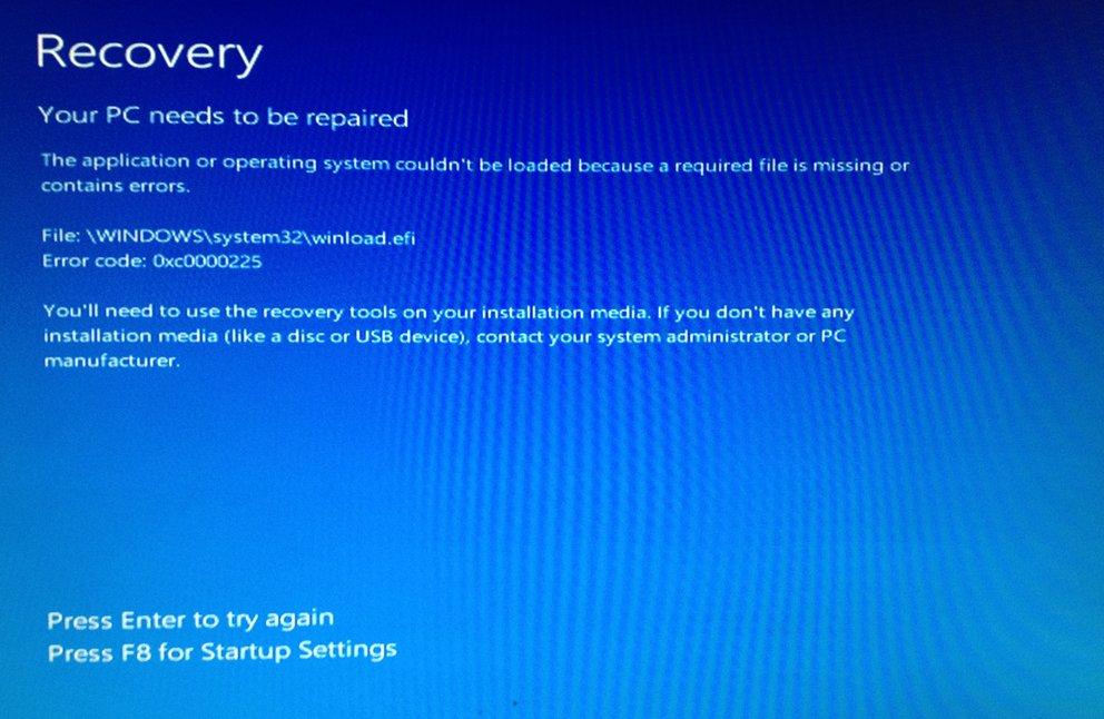 Windows konnte nicht geladen werden. Bildquelle: windowsforum.com