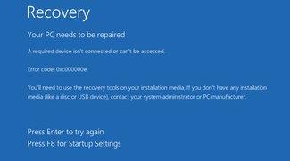 Lösung: 0xc000000e – Fehler beim Start von Windows