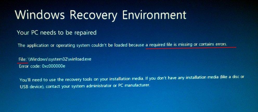 Hier fehlt eine bestimmte Datei. Bildquelle: superuser.com