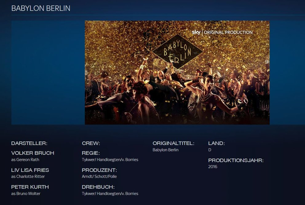 Babylon Berlin Sky Ticket