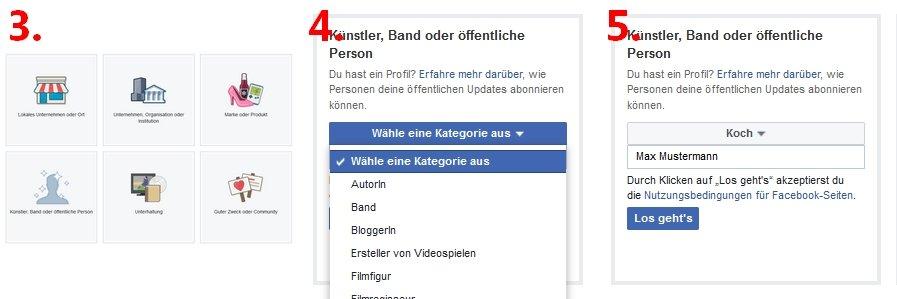 Facebook Fanpage erstellen 01