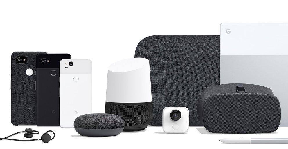 Googles Hardware-Familie 2017 (Quelle: Google)