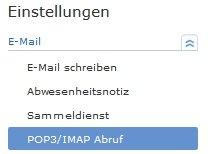 GMX IMAP POP3 aktivieren Abruf