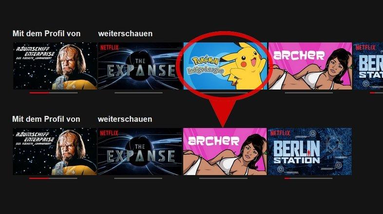 Netflix Liste Löschen