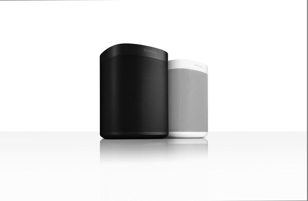 Der Sonos One wird in den Farben Weiß und Schwarz angeboten. Quelle: Sonos