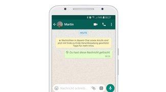 WhatsApp: Löschen von Nachrichten herauszögern – und sogar verhindern