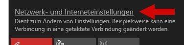 Windows 10 Netzwerk- und Interneteinstellungen