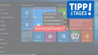 Windows 10: (Vorinstallierte) Apps deinstallieren – so geht's