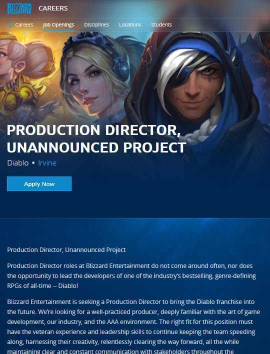 Screenshot / careers.blizzard.com