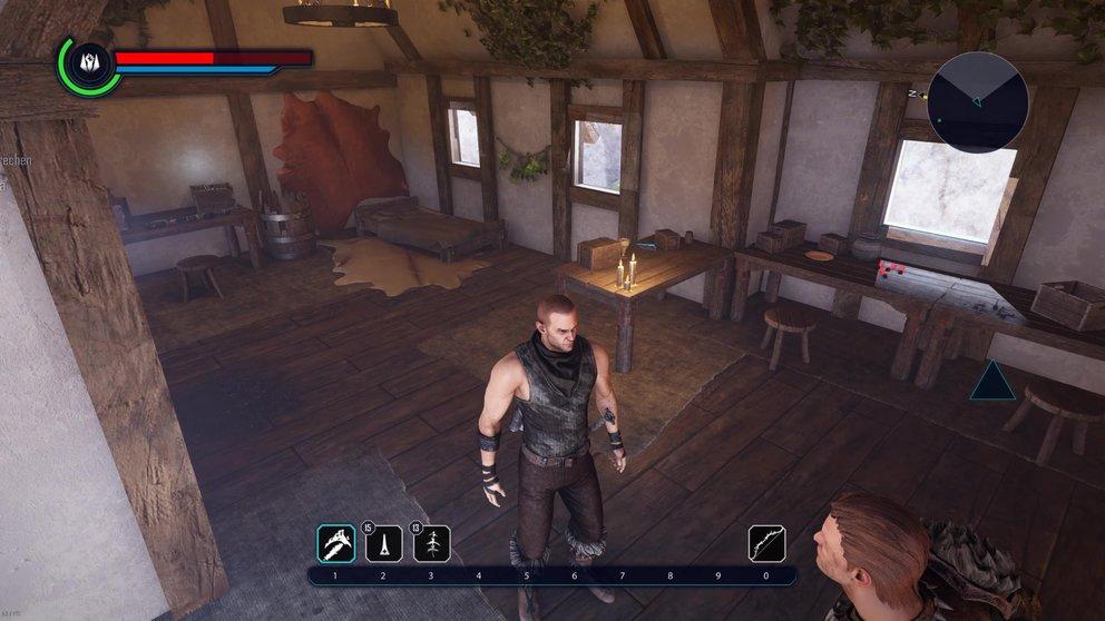 Sucht in allen Hütten Goliets nach NPCs mit Quests.