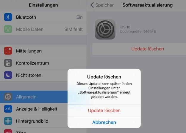 Hier löscht ihr bereits heruntergeladene iOS-Updates. Bildquelle: iphone-ticker.de