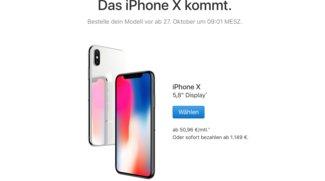 iPhone-X-Verfügbarkeit: So sieht die Lieferzeit bei Apple aus