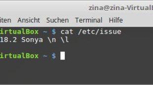 Linux Distribution Anzeigen