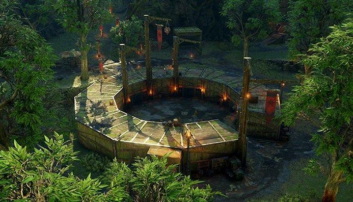 In den Kampfgruben können eure Orks beweisen, wie viel Stärke in ihnen steckt - und neben viel Mirian verdienen.