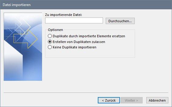 Wählt eure CSV-Datei aus und bestimmt, wie mit Duplikaten umgegangen werden soll