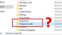 """Was bedeutet der Ordner """"Programme (x86)"""" in Windows? Unterschied zu """"Programme""""?"""