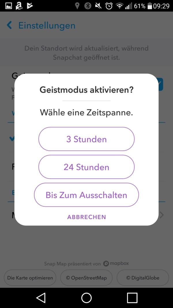 Snapchat Standort Sehen
