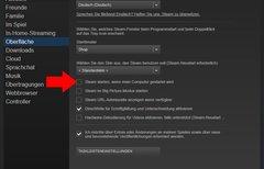 Steam: Autostart deaktivieren...